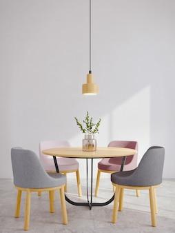 Sala da pranzo moderna in stile minimal interno Foto Premium