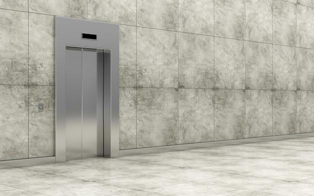 Interiore moderno del corridoio dell'ascensore