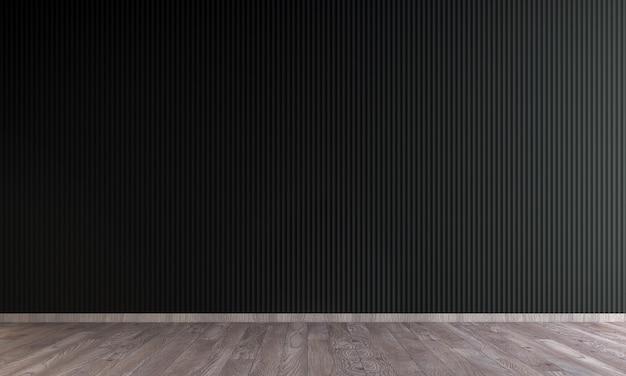 Interior design moderno soggiorno vuoto e priorità bassa di struttura della parete nera