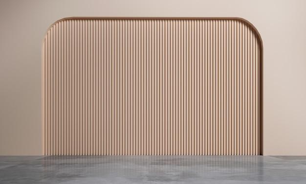 Moderno soggiorno vuoto e mock up di interior design in stile e struttura della parete