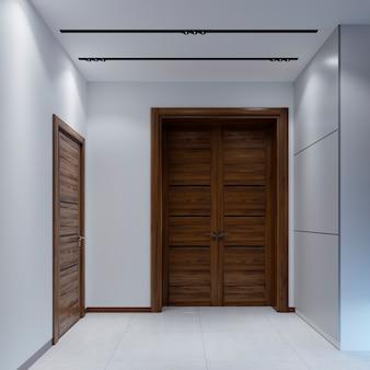Ingresso moderno in stile minimalista. rendering 3d.