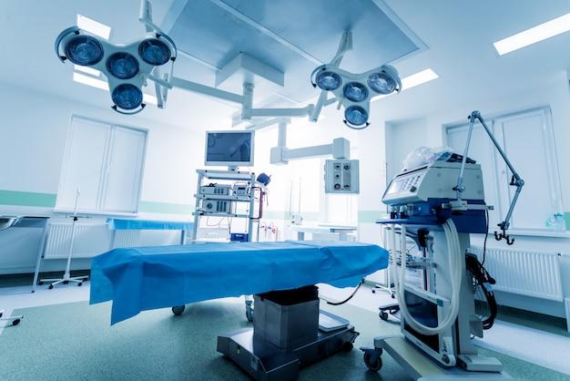Attrezzature moderne in sala operatoria. dispositivi medici per neurochirurgia.