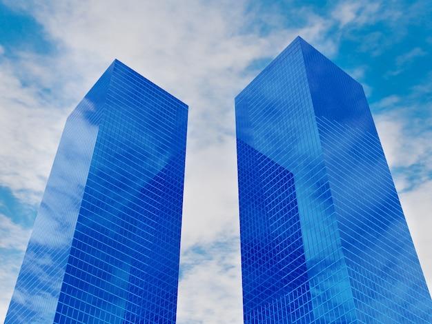 Edificio immobiliare finanziario moderno per società di affari