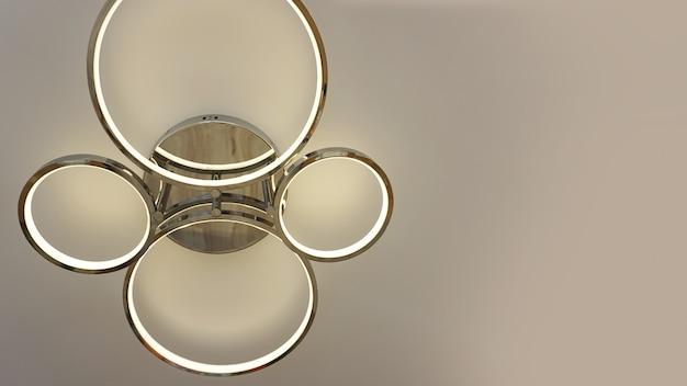Lampada da soffitto moderna di forma rotonda e piatta con lampadine per illuminazione interna contemporanea