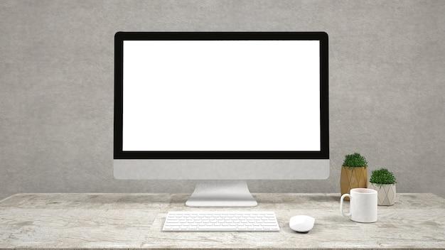 Moderno monitor per computer a schermo piatto