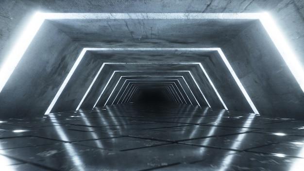 Moderno corridoio vuoto futuristico