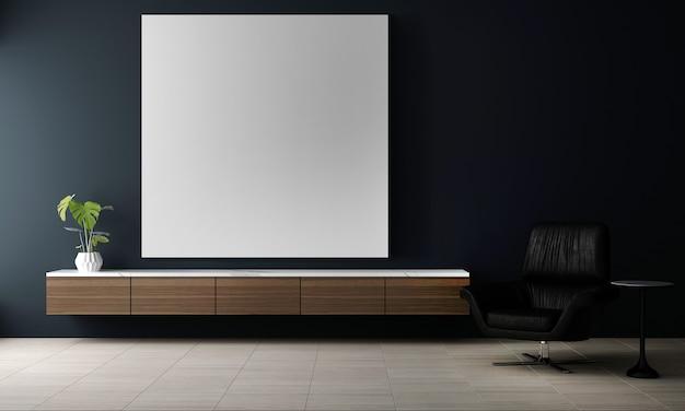 Interior design moderno di soggiorno e muro di cemento e sfondo texture cornice immagine