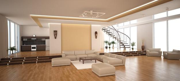 Interni moderni di un salotto