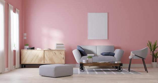 Soggiorno interno moderno. rendering 3d