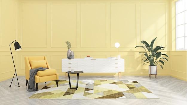 Interni moderni del concetto di soggiorno
