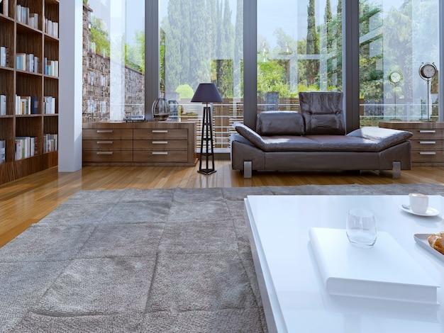 Interni moderni del soggiorno.