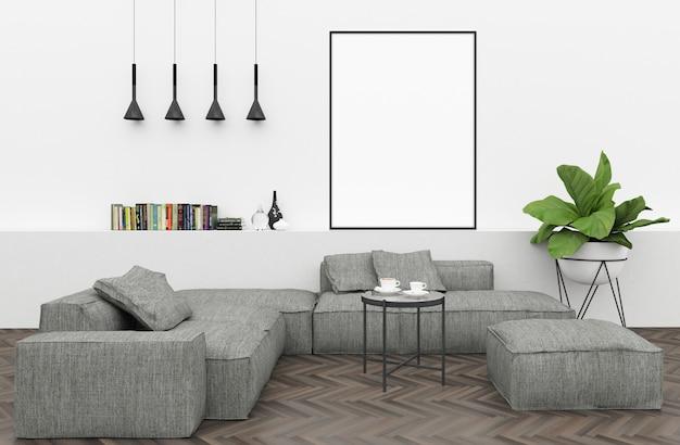 Interni moderni con cornice nera verticale