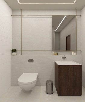 Design del bagno moderno e di lusso