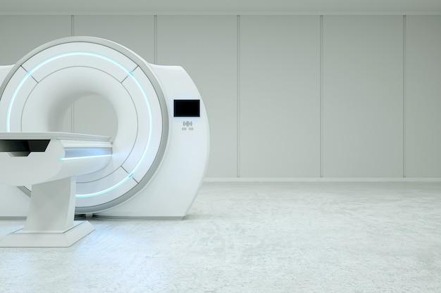 Moderna macchina per risonanza magnetica in una stanza