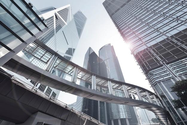 Edifici per uffici moderni nel centro di hong kong