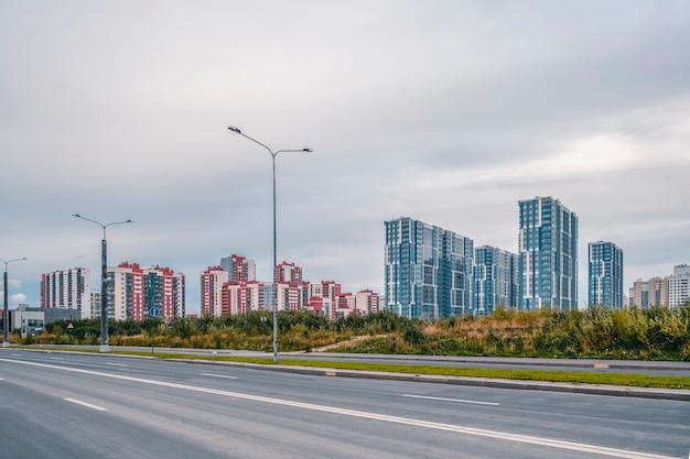 Moderno quartiere residenziale nel sud-ovest di san pietroburgo