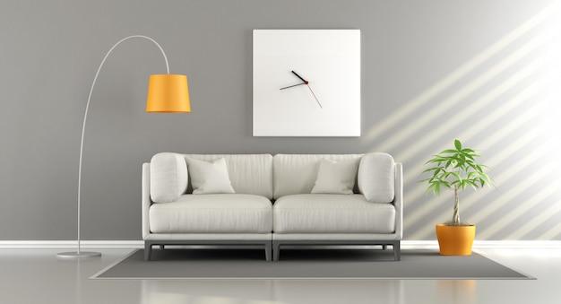 Camera moderna con divano