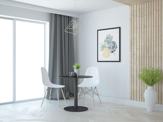 Piccolo appartamento moderno con finestre
