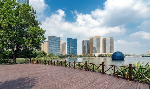 Paesaggio architettonico urbano moderno di shaoxing cina