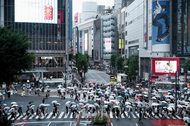 Vista del centro urbano moderno