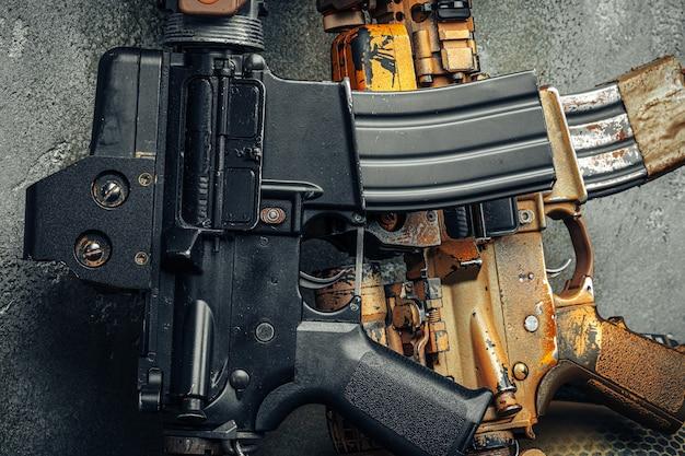 Serie di armi moderne. fucile d'assalto dell'esercito americano, da vicino.
