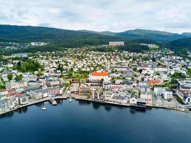 Vista aerea di molde, norvegia