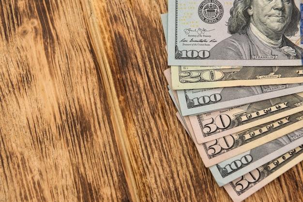 Sfondo di denaro banconote da un dollaro risparmio di contanti sfondo