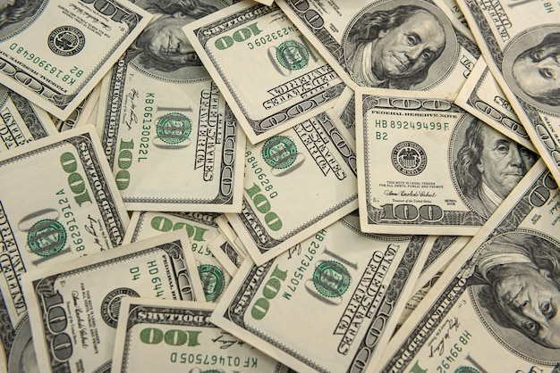 Soldi noi banconote da un dollaro, concetto finanziario