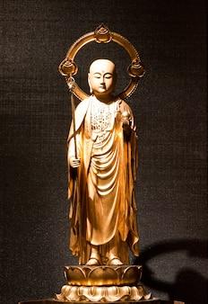 Statua monaco in legno, utile come icona