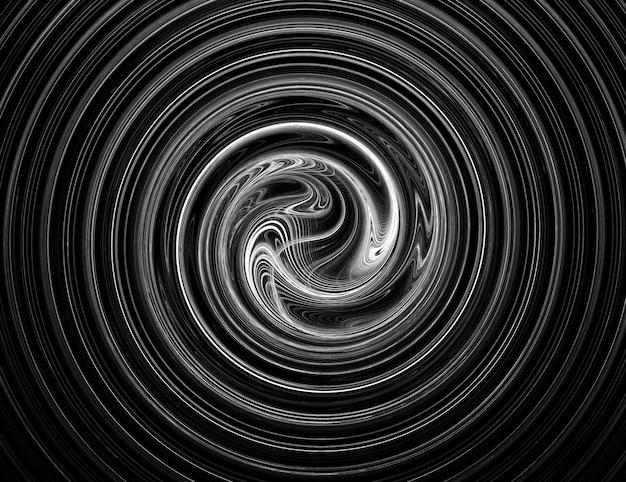 Frattale concentrico monocromatico come bellissimo sfondo moderno