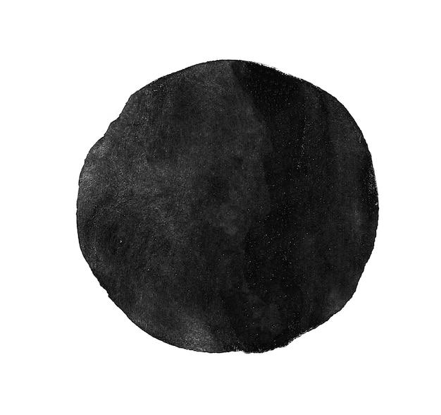 Vernice monocromatica di struttura dell'acquerello del cerchio grigio isolata.