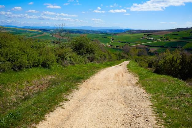 La pista di montes de oca del cammino di santiago
