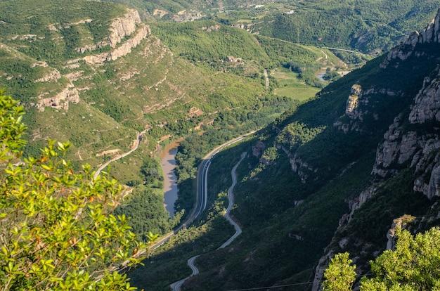 Paesaggio di montagna di montserrat, barcellona