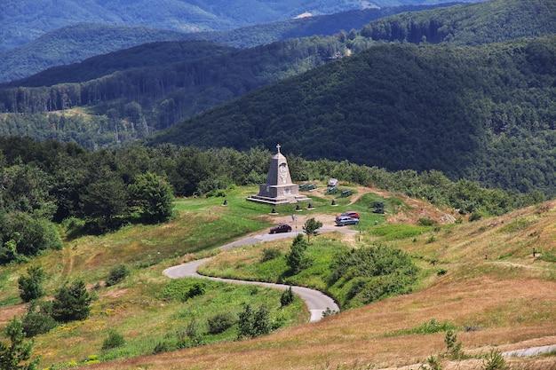 Il monumento sul passaggio shipka, bulgaria