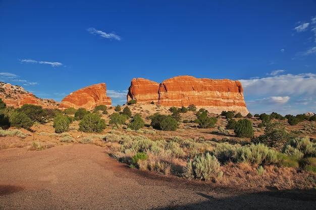 Parco nazionale della monument valley nello utah e arizona degli stati uniti