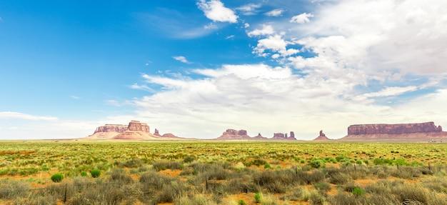 Panorama del parco tribale nazionale della monument valley