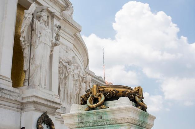 Monumento vittoriano a roma, italia