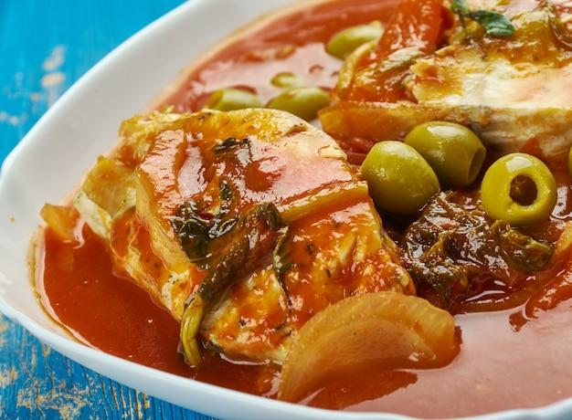 Stufato di pesce alla marocchina