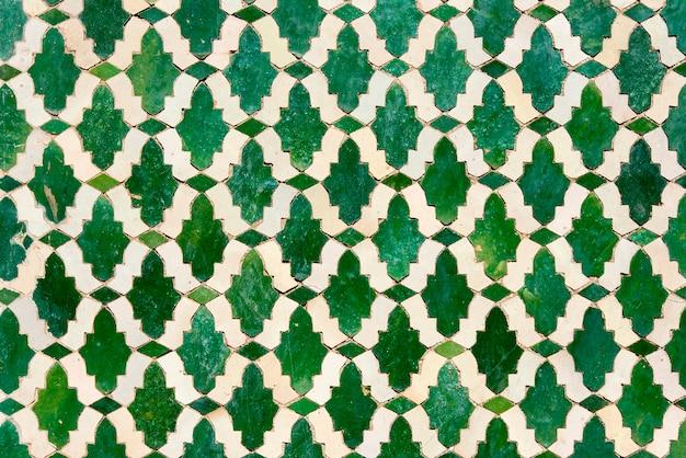 Piastrelle marocchine con motivi arabi tradizionali, motivi di piastrelle di ceramica