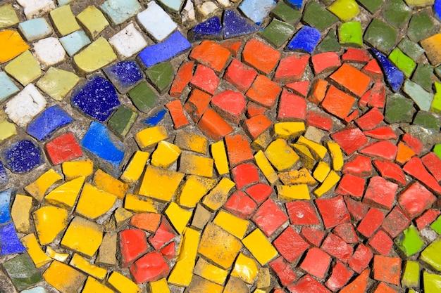 Sfondo di mosaico. modello di piastrelle di ceramica colorate