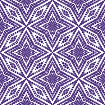 Reticolo senza giunte del mosaico. sfondo caleidoscopio simmetrico viola. design senza soluzione di continuità a mosaico retrò. stampa classica tessile pronta, tessuto per costumi da bagno, carta da parati, avvolgimento.