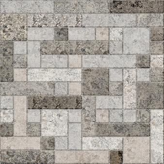 Texture di tessere di mosaico. elemento decorativo da parete. elemento in pietra per la decorazione della parete