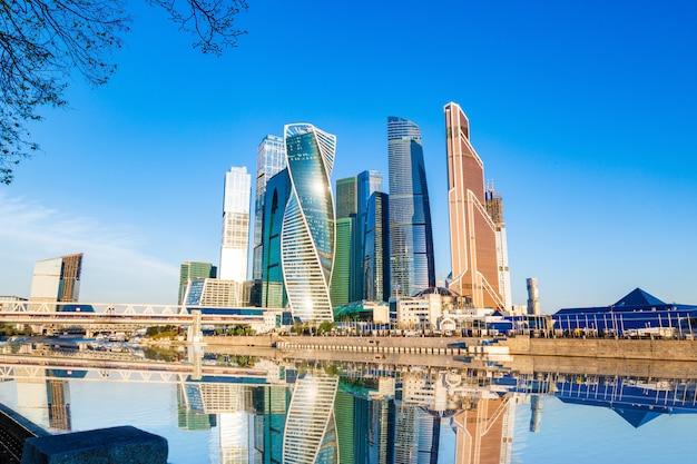 Città di mosca - vista dei grattacieli