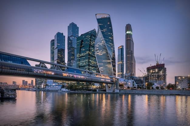 Centro internazionale degli affari di mosca (città di mosca), russia.