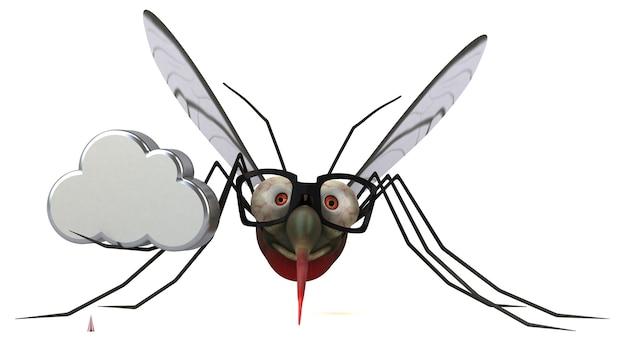 Zanzara - illustrazione 3d