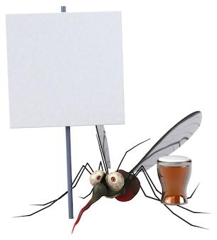Illustrazione di zanzara