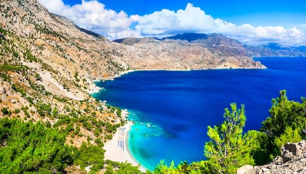 Spiagge più belle della grecia - apella nell'isola di karpathos