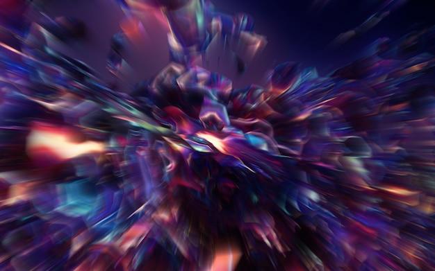 Sfocatura di movimento attraverso l'universo, muovendosi alla velocità della galassia del tunnel di luce