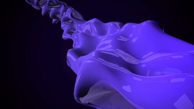 Forme futuristiche liquide blu scuro di movimento, fondo geometrico astratto. stile di illustrazione 3d elegante e di lusso per modello aziendale e aziendale