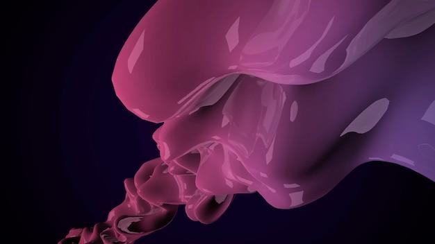 Forme futuristiche liquide viola scuro di movimento, fondo geometrico astratto. stile di illustrazione 3d elegante e di lusso per modello aziendale e aziendale